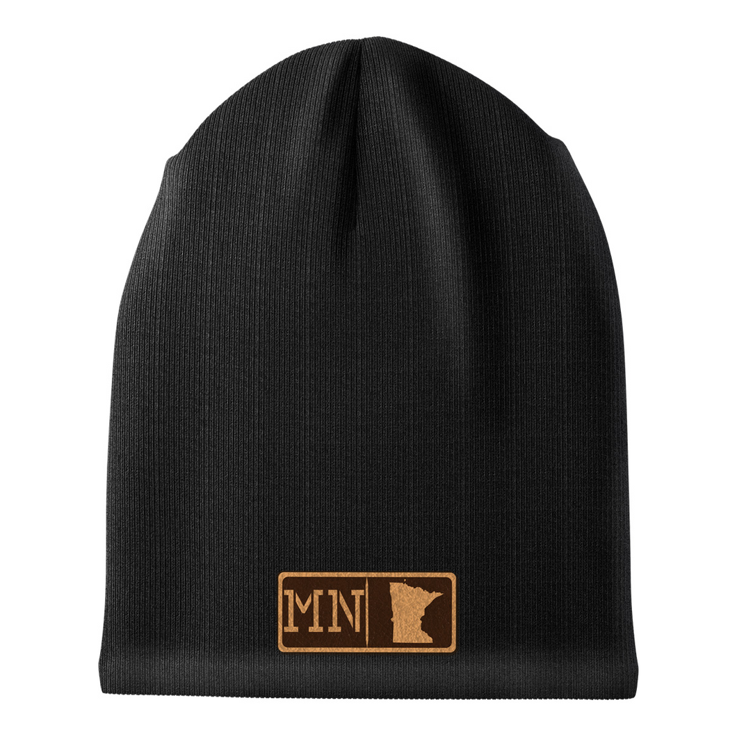 Minnesota Leather Patch Homegrown Beanie