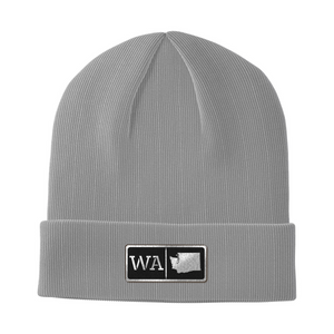 Washington Black Leather Patch Homegrown Beanie
