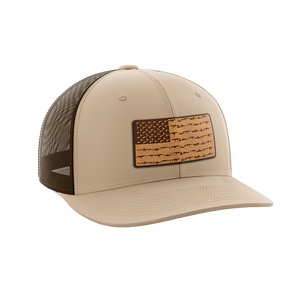 Amerigun Flag Leather Patch Hat - Crusader Outlet