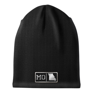 Missouri Black Leather Patch Homegrown Beanie