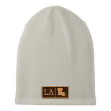 Load image into Gallery viewer, Louisiana Leather Patch Homegrown Beanie