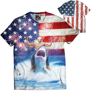 Eagle Riding Shark Tee - Crusader Outlet