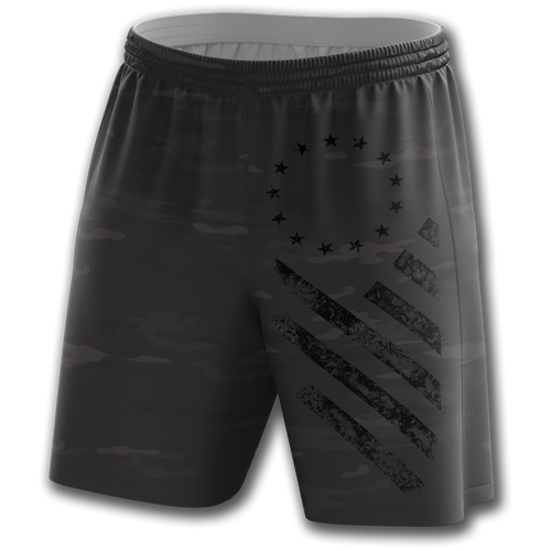 Midnight Camo Shorts - Crusader Outlet