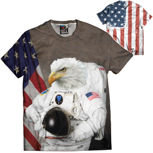 Eagle Astronaut Tee - Crusader Outlet