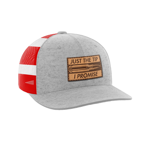 Just The Tip, I Promise Leather Patch Hat - Crusader Outlet