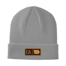 Load image into Gallery viewer, Iowa Leather Patch Homegrown Beanie
