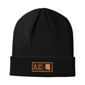 Arizona Leather Patch Homegrown Beanie