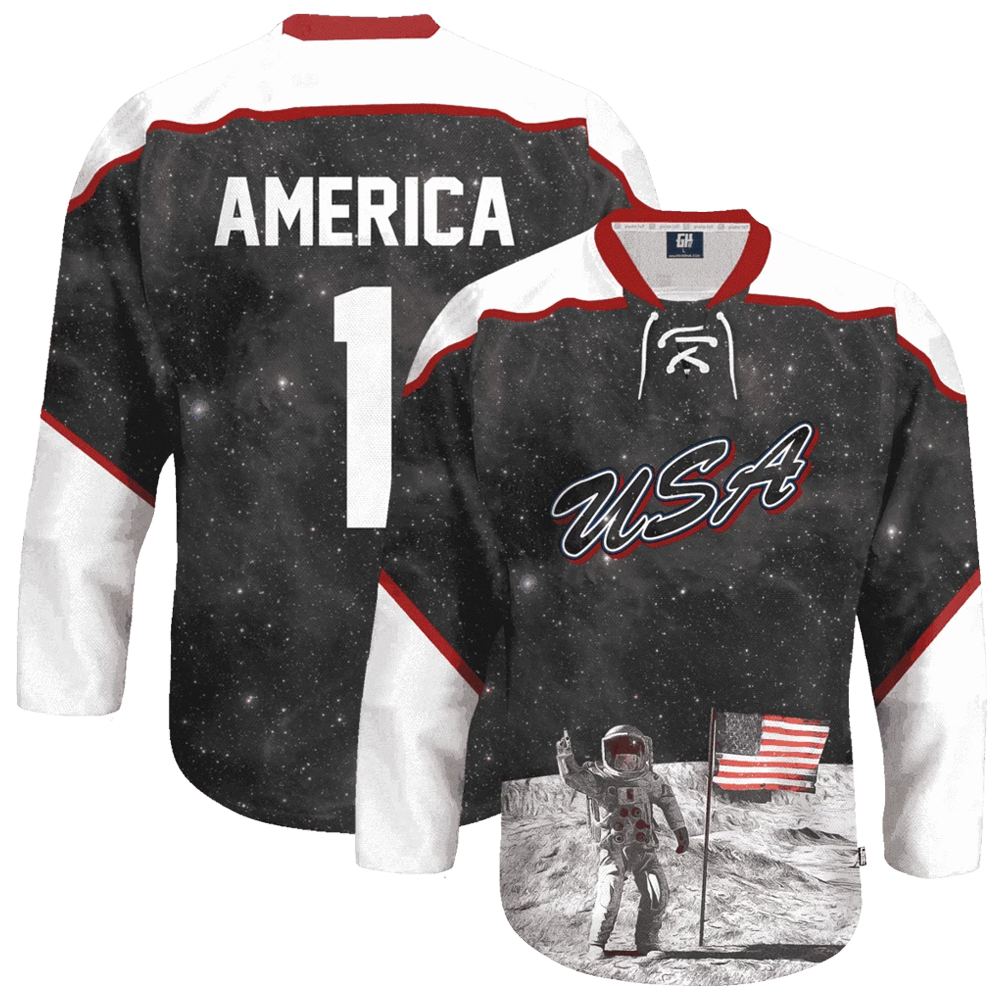 USA Galaxy Hockey Jersey - Crusader Outlet