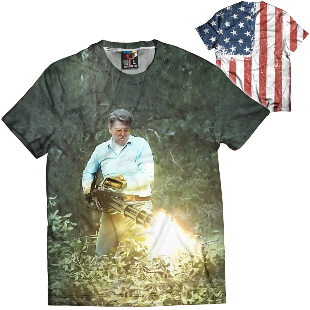Reagan Chaingun Tee - Crusader Outlet