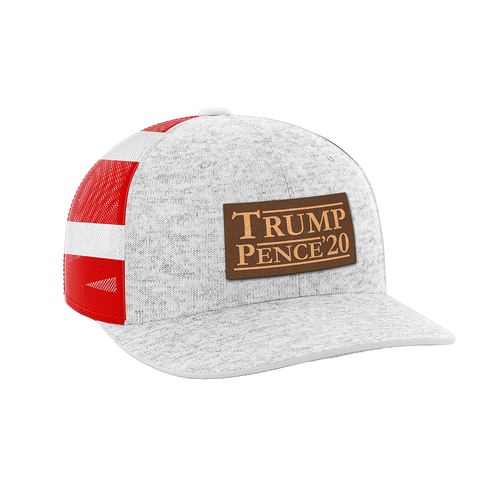 Trump Pence 2020 Leather Patch Hat - Crusader Outlet