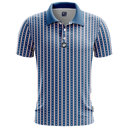 America Stars and Straps Golf Polo - Crusader Outlet