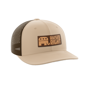 Raised Right Leather Patch Hat - Crusader Outlet
