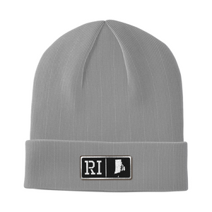 Rhode Island Black Leather Patch Homegrown Beanie