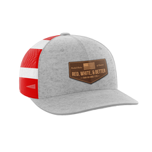 Load image into Gallery viewer, Red, White, and Better Than You Leather Patch Hat - Crusader Outlet
