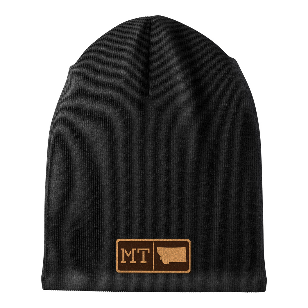 Montana Leather Patch Homegrown Beanie