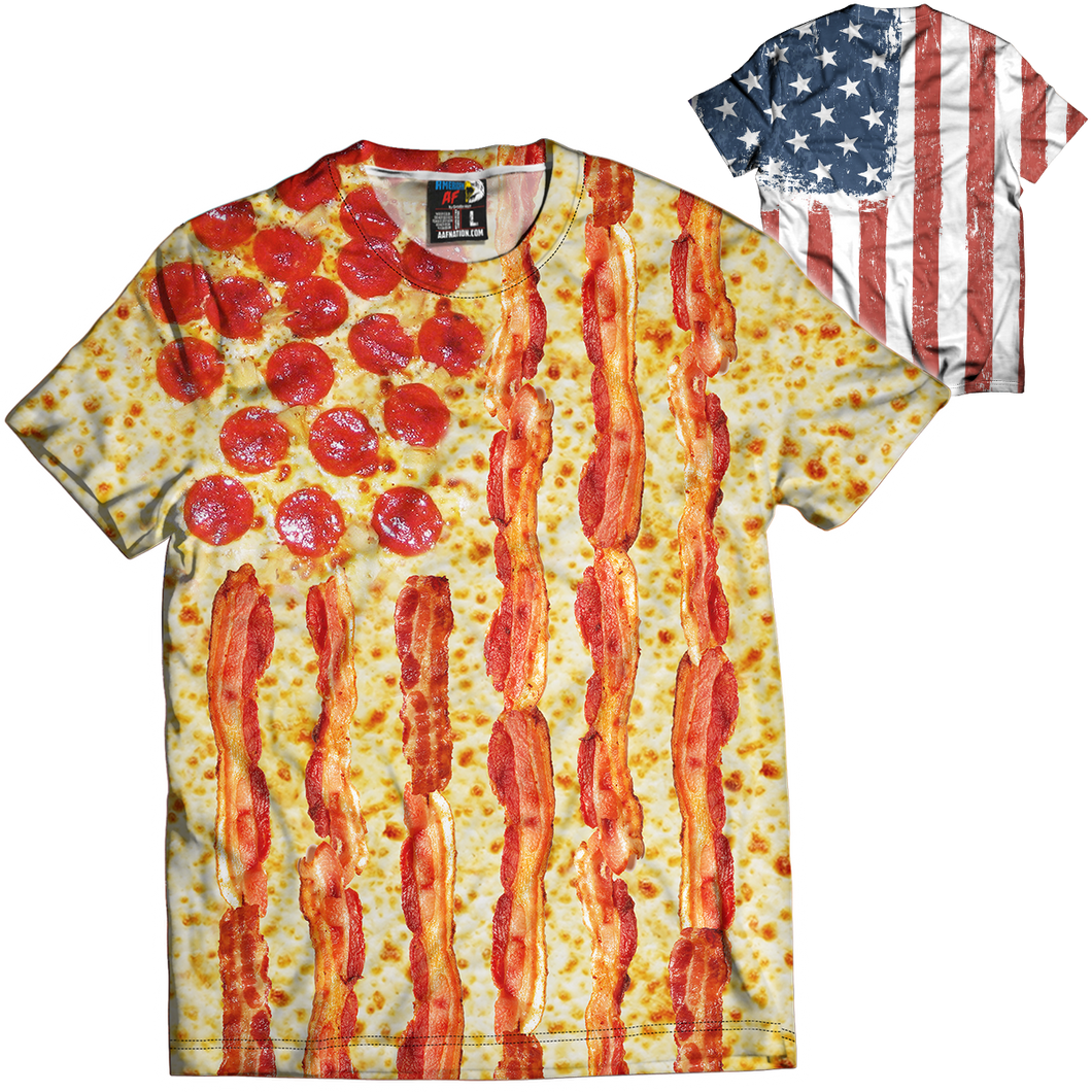 United States of Pizza Tee - Crusader Outlet