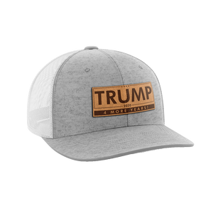 Trump - 4 More Years Leather Patch Hat - Crusader Outlet