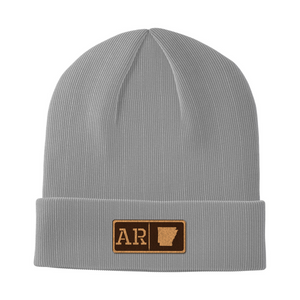 Arkansas Leather Patch Homegrown Beanie