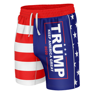 Trump KAG American Flag Swim Trunks - Crusader Outlet