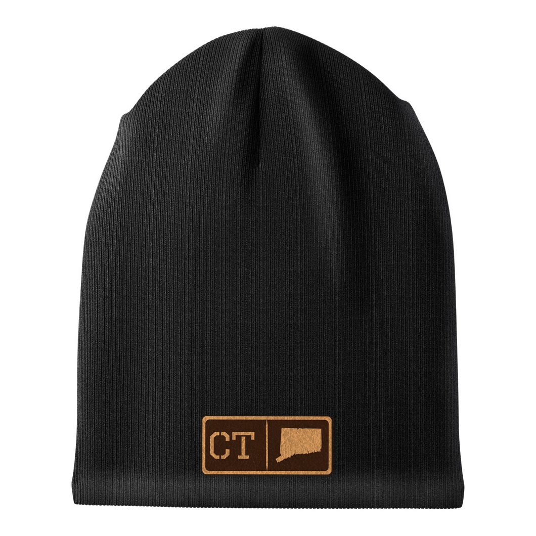 Connecticut Leather Patch Homegrown Beanie