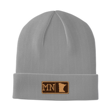 Load image into Gallery viewer, Minnesota Leather Patch Homegrown Beanie