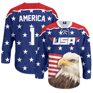 Eagle America #1 Hockey Jersey - Crusader Outlet