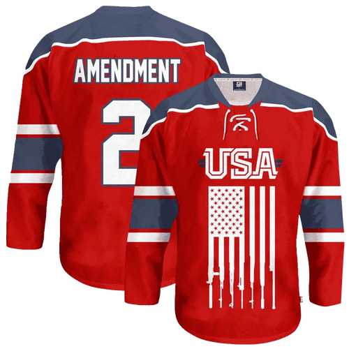 USA 2nd Amendment Hockey Jersey - Crusader Outlet