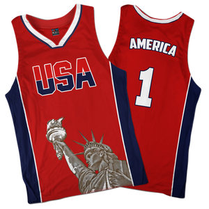 America #1 Basketball Jersey - Crusader Outlet