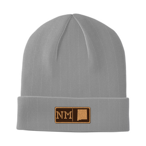 New Mexico Leather Patch Homegrown Beanie