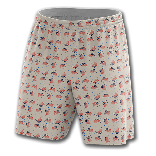 Flags And Stars Shorts - Crusader Outlet