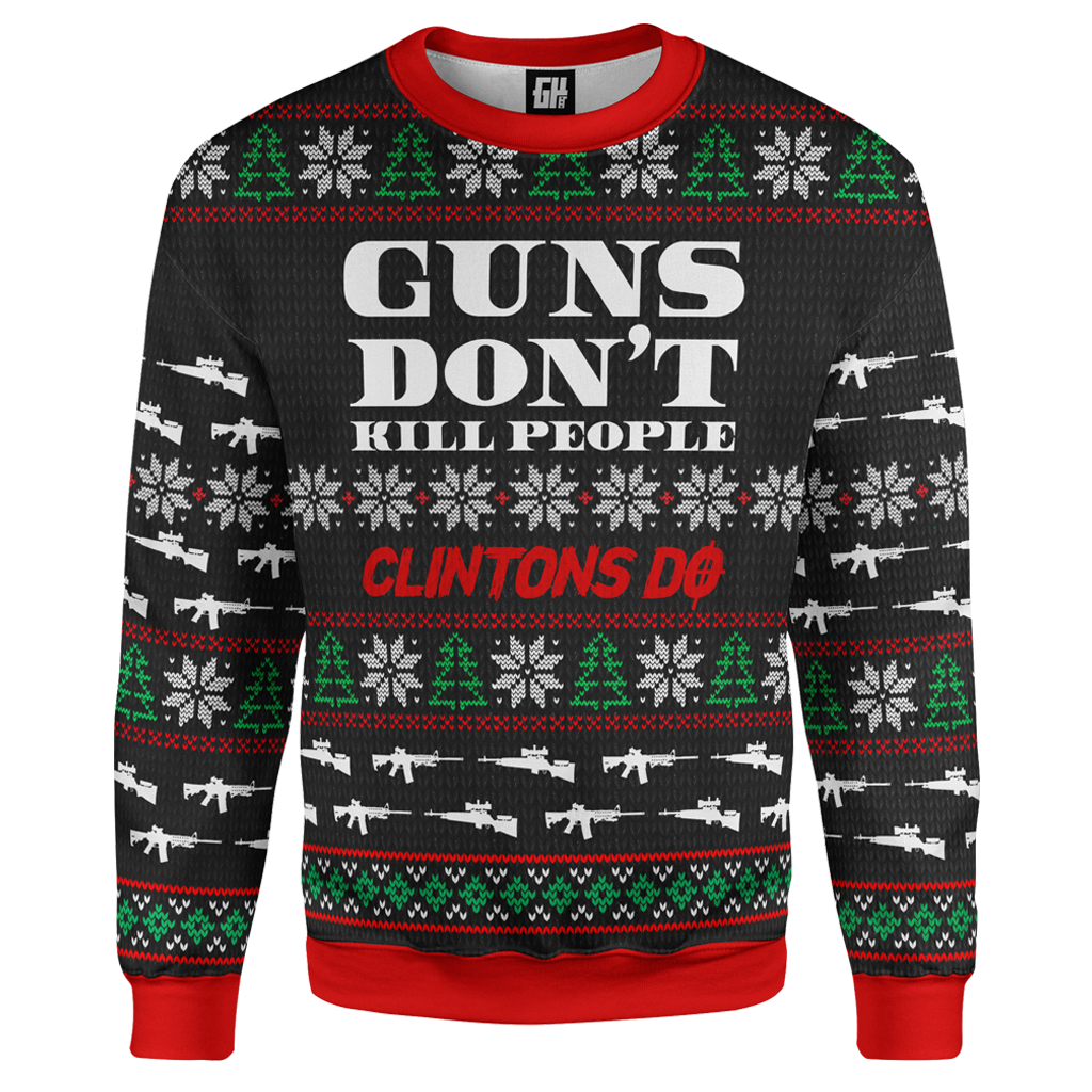 Guns Don't Kill Christmas Sweater - Crusader Outlet