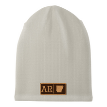Load image into Gallery viewer, Arkansas Leather Patch Homegrown Beanie