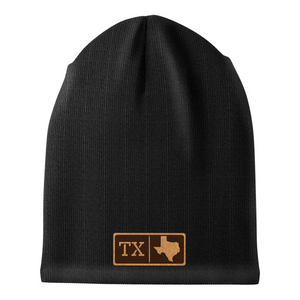 Texas Leather Patch Homegrown Beanie