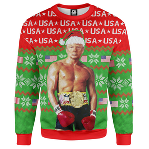 Trump Rocky Christmas Sweater - Crusader Outlet