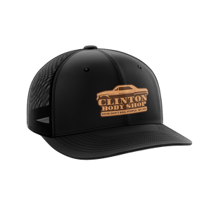 Clinton Body Shop Leather Patch Hat - Crusader Outlet