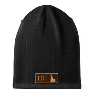 Idaho Leather Patch Homegrown Beanie