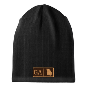 Georgia Leather Patch Homegrown Beanie