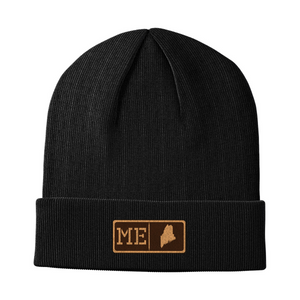 Maine Leather Patch Homegrown Beanie