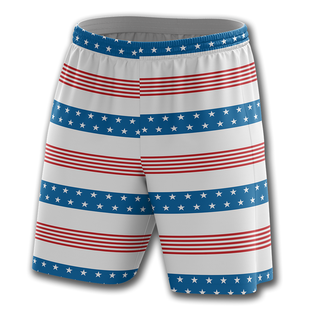 Old Glory Stripes Shorts - Crusader Outlet