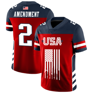 Team USA 2nd Amendment Football Jersey v2 - Crusader Outlet