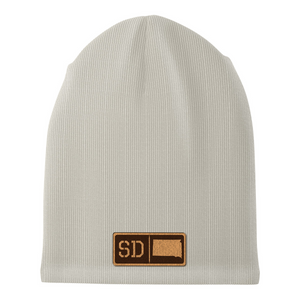 South Dakota Leather Patch Homegrown Beanie