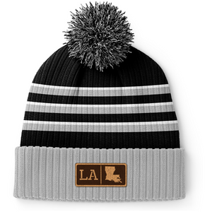 Louisiana Leather Patch Homegrown Beanie