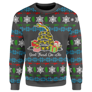 Don't Tread On Me Christmas Sweater - Crusader Outlet