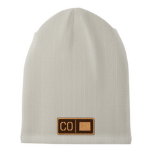 Load image into Gallery viewer, Colorado Leather Patch Homegrown Beanie