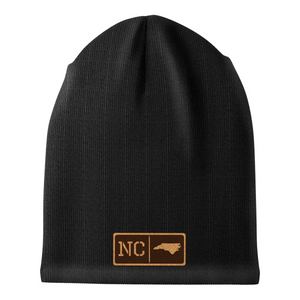 North Carolina Leather Patch Homegrown Beanie
