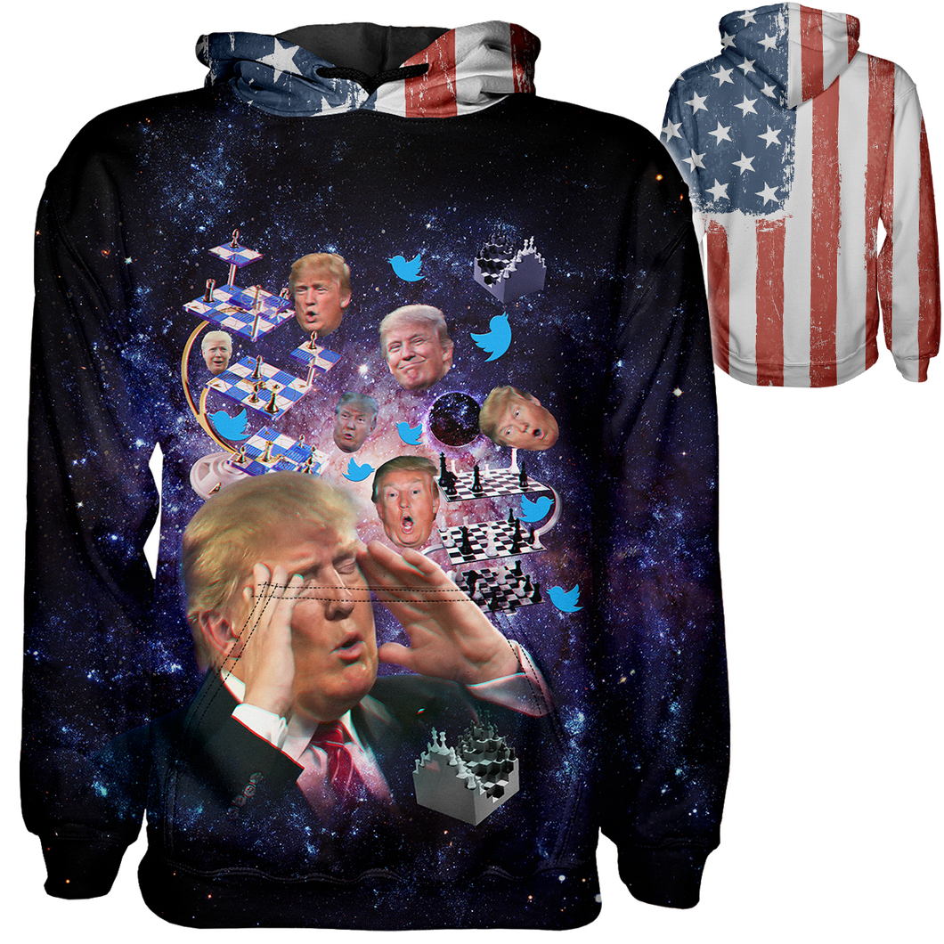 Trump 4D Chess Hoodie - Crusader Outlet