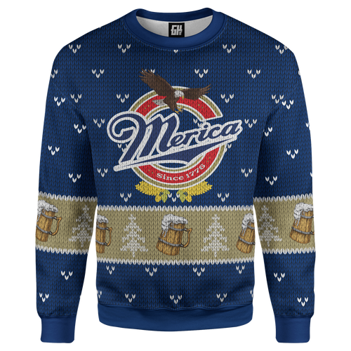 Merica Lite Christmas Sweater - Crusader Outlet