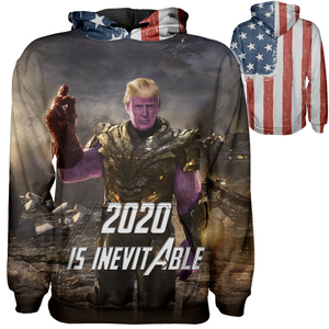 Thanos 2020 is Inevitable Hoodie - Crusader Outlet
