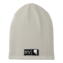 Load image into Gallery viewer, Nevada Black Leather Patch Homegrown Beanie