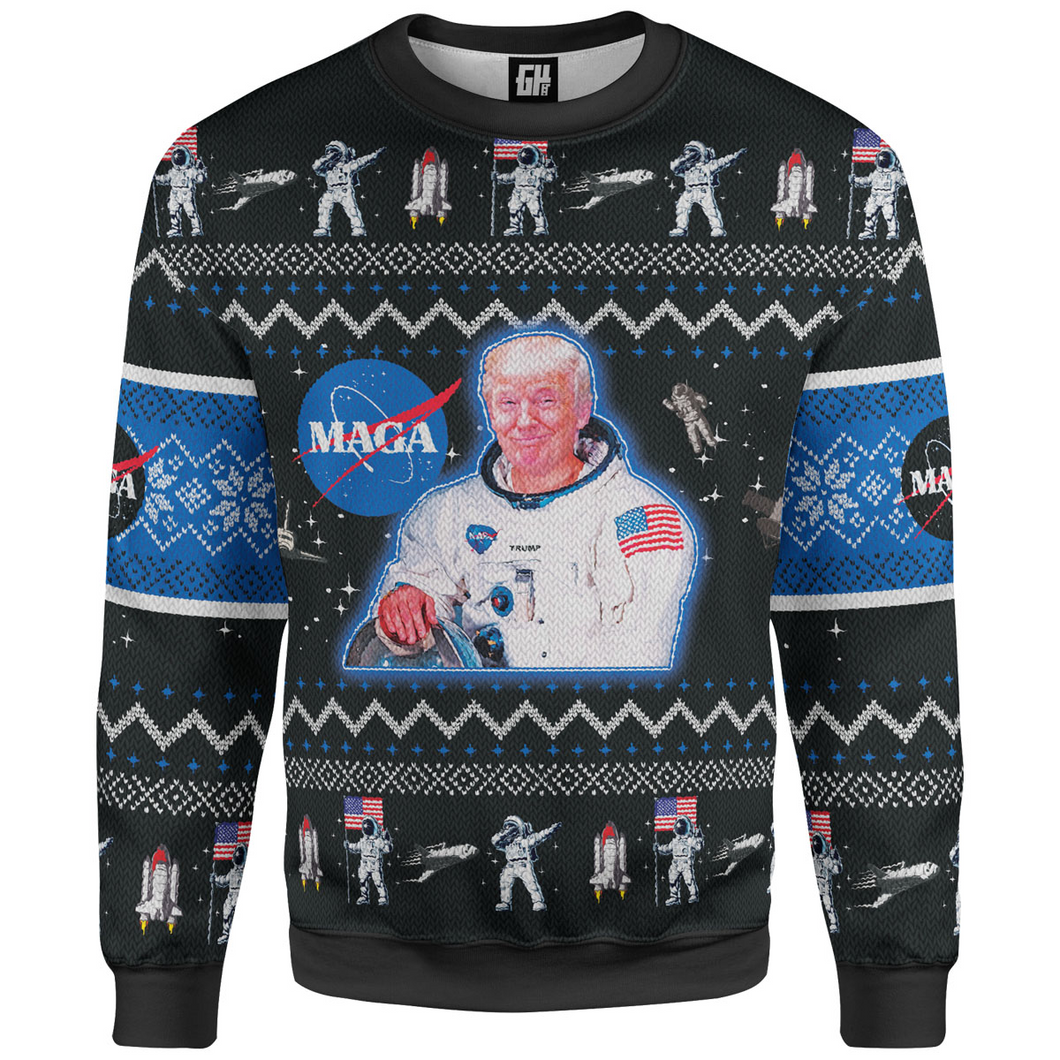 MAGA Space Force Christmas Sweater - Crusader Outlet